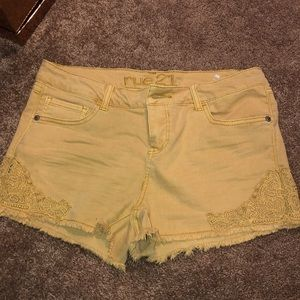 Yellow Rue 21 shorts